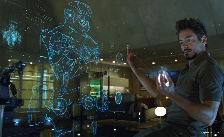 "IRON MAN ""Ologramma"" Iron Man Holographic Computer"