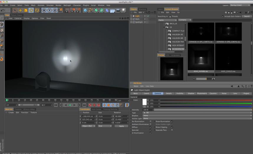 DOWNLOAD IES Lights in Cinema 4D + Tutorial