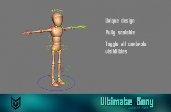 Free Maya rigs_Ultimate-Bony_3dart