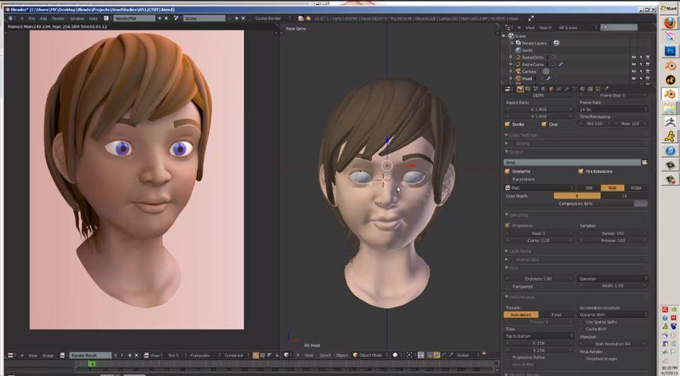 Modellazione di un personaggio con blender for Programma rendering free