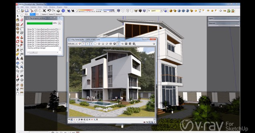 V ray 2 0 per sketchup for House rendering software free