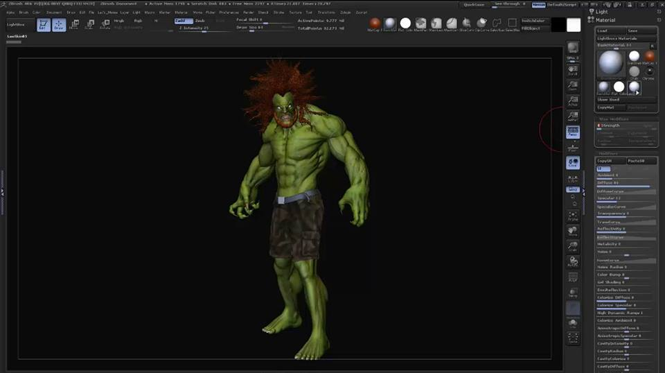 tutorial Render pass con Zbrush e Photoshop