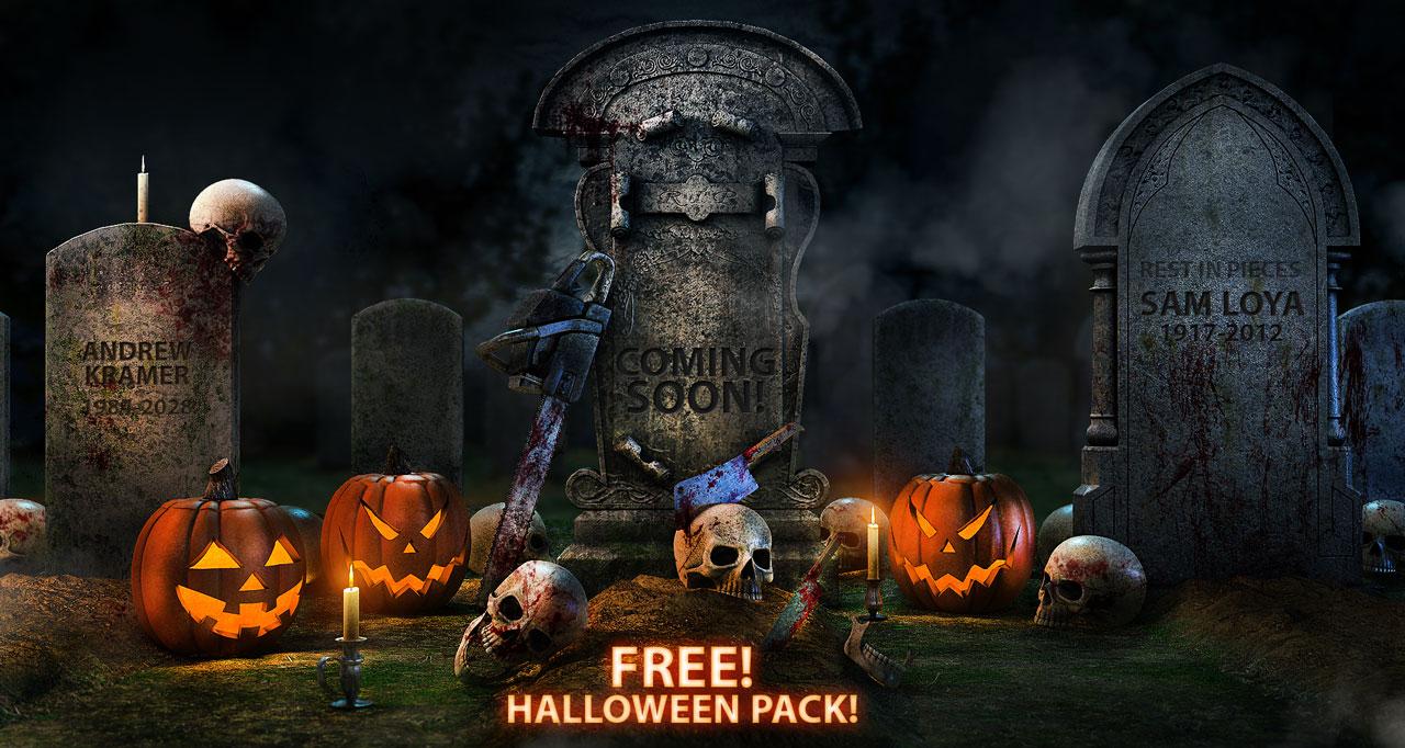 Free Download Halloween 3d Model Pack - free download 3d models 3d max
