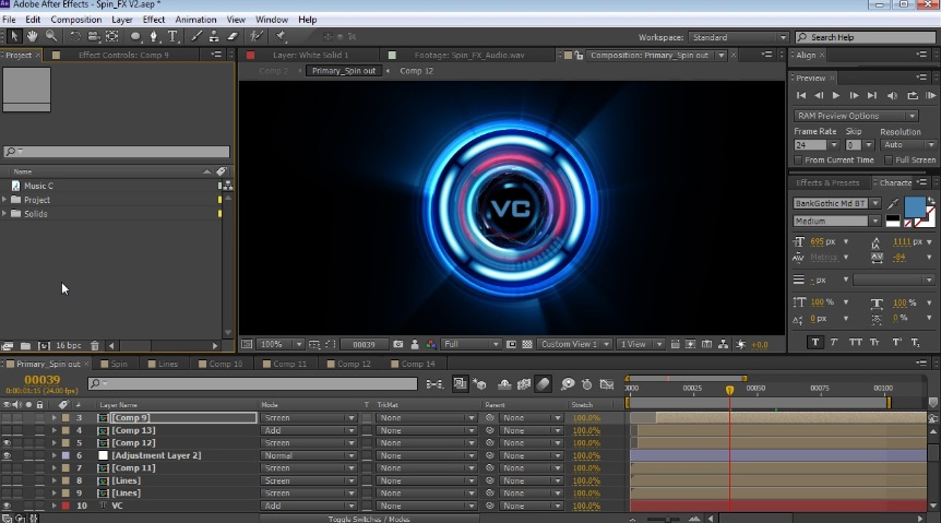 Spin FX in After Effects