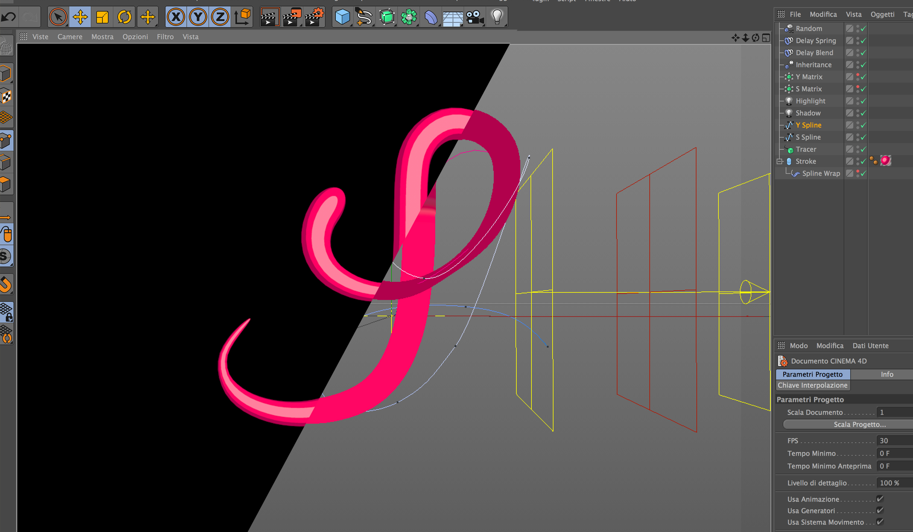 Morph Splines in Cinema 4D