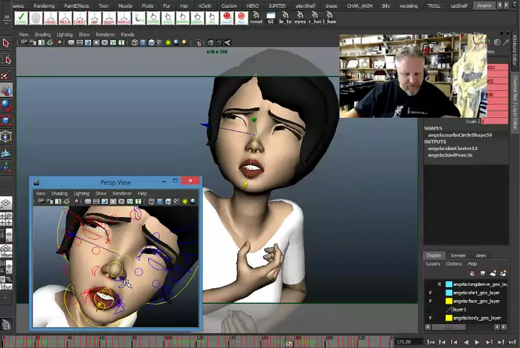 Facial animation in maya