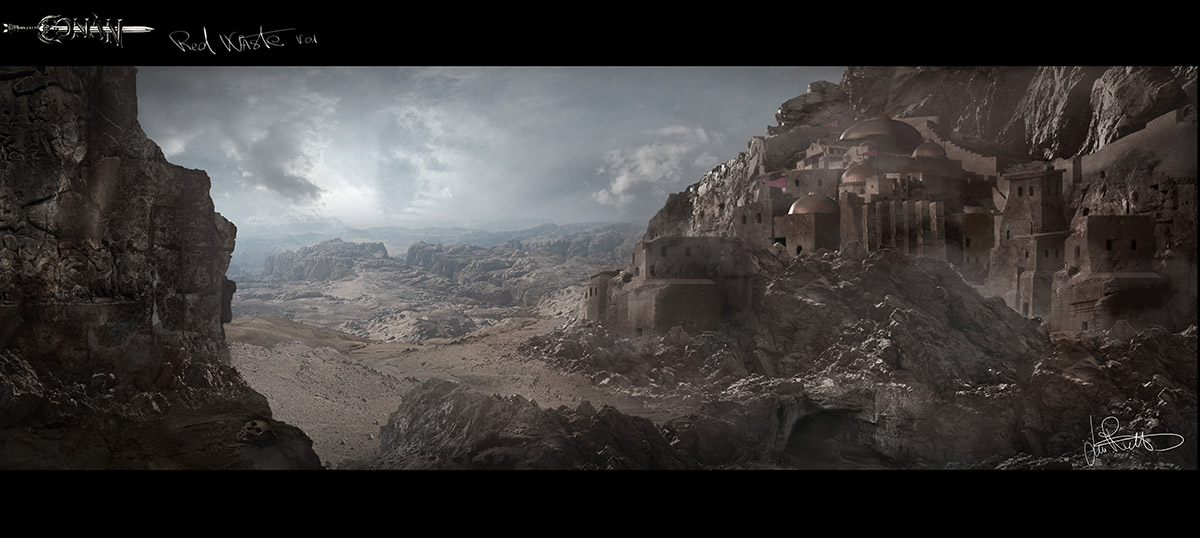 Luca Gabriele Rossetti_ Matte Painting_red_waste