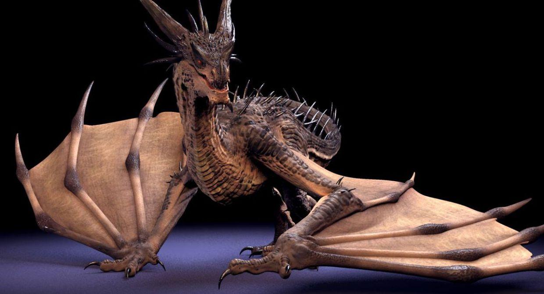 1 Free Dragon Rigged - Maya