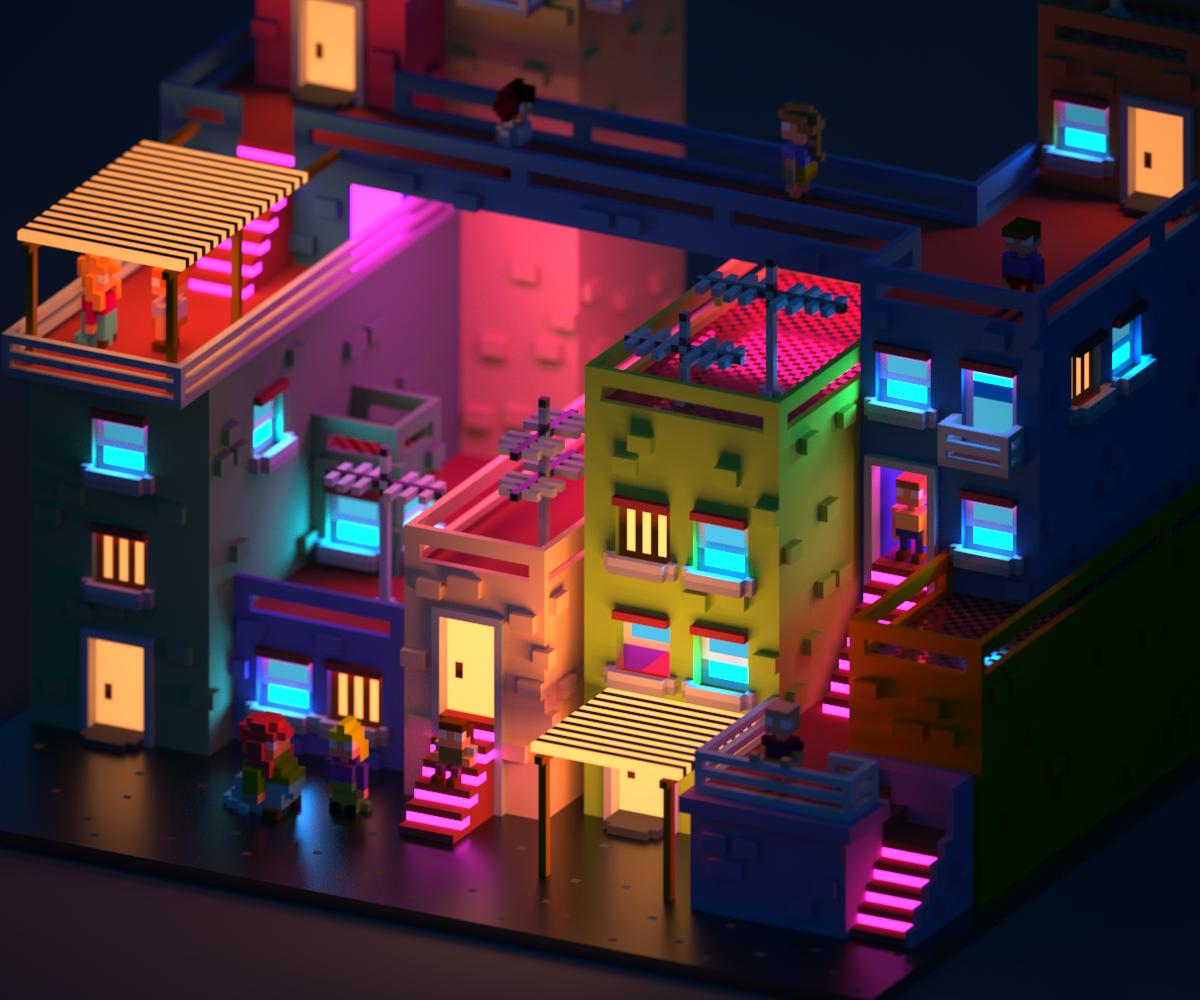 Colour Pixels 3d – Home Exsplore