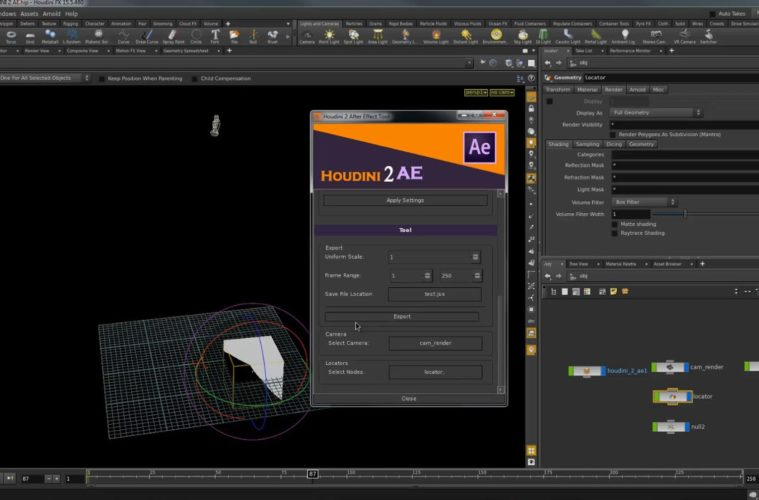 HOUDINI to AFTER EFFECTS WITH A FREE HOUDINI 2 AE TOOL | 3DArt