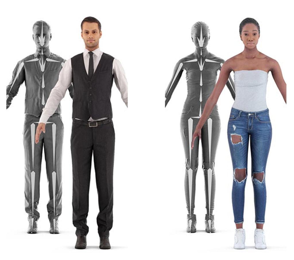 3D Scan Man Woman Free 3D Model | 3DArt