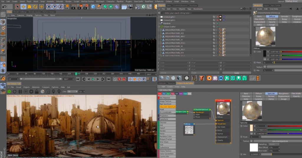 Cinema 4D Tutorial - Intro to Volumetrics and Scatter in