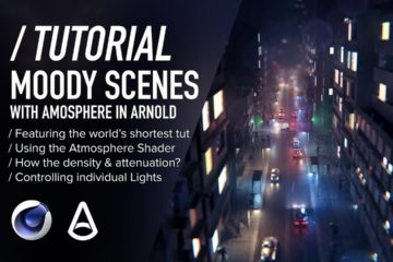 C4D & Arnold TUTORIAL - Moody Scenes using Atmosphere