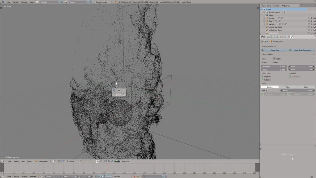 Come creare schizzi di colore in Blender