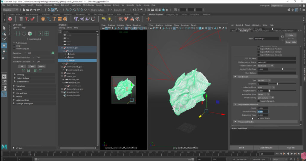 DISPLACEMENTS FROM ZBRUSH TO ARNOLD | 3DArt