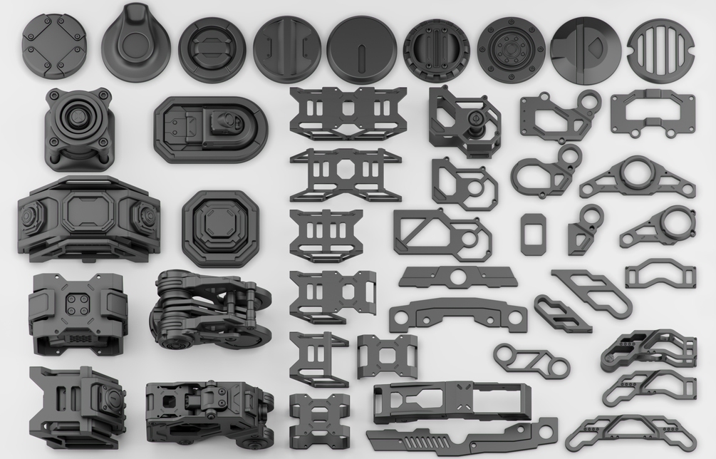 FREE Hard Surface Kitbash Vol 1 | 3DArt