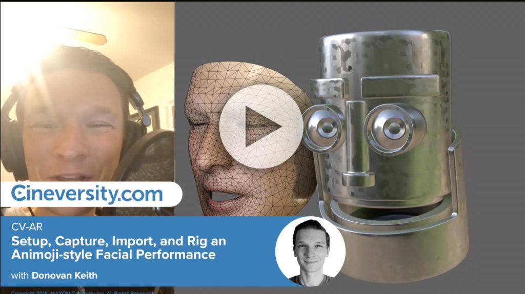 CV-AR: Facial Capture, Rig in C4D with iPhoneX | 3DArt