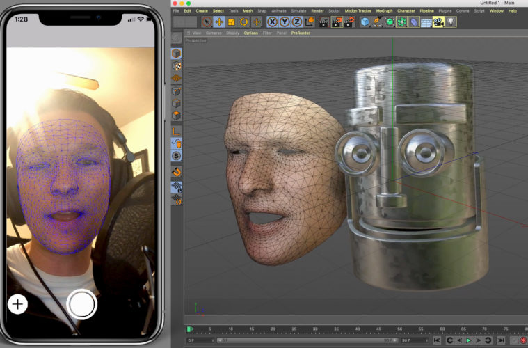 CV-AR: Facial Capture, Rig an Animji-style in C4D