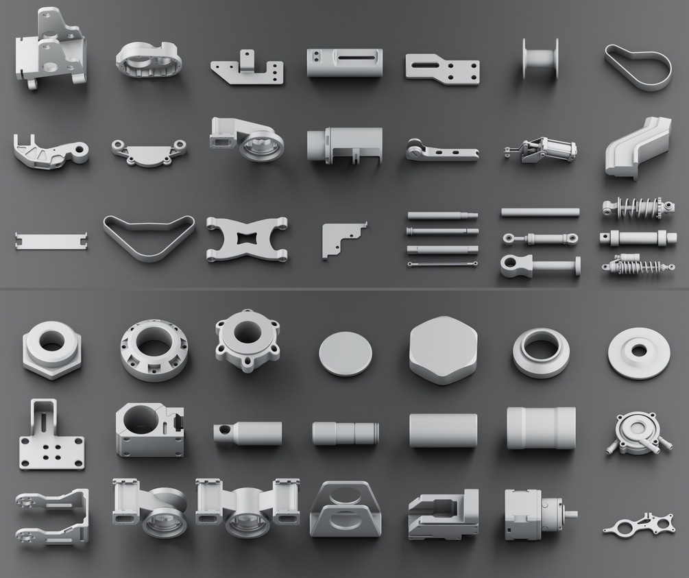 Download 300 Free Kitbash 3D Model Part Vol 2 - 3