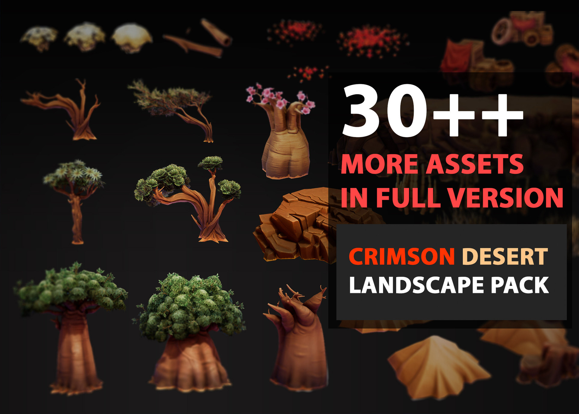 3D model Crimson Desert - Free Package | 3DArt