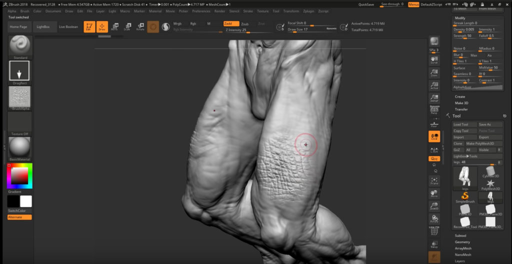 Making Killer Creature Alphas for ZBrush   3DArt