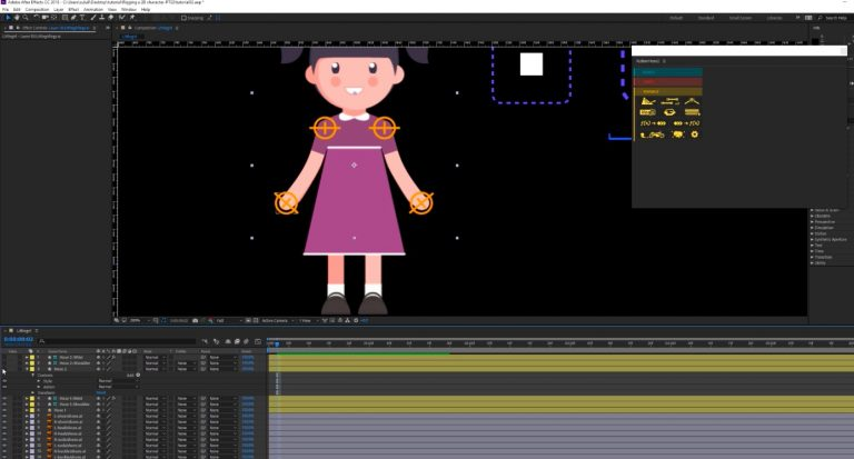 2D Character Animation in After effects with controls | 3DArt