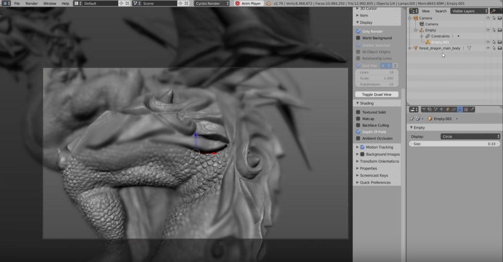 How to setup Blender 2 8 EEVEE Auto focus | 3DArt