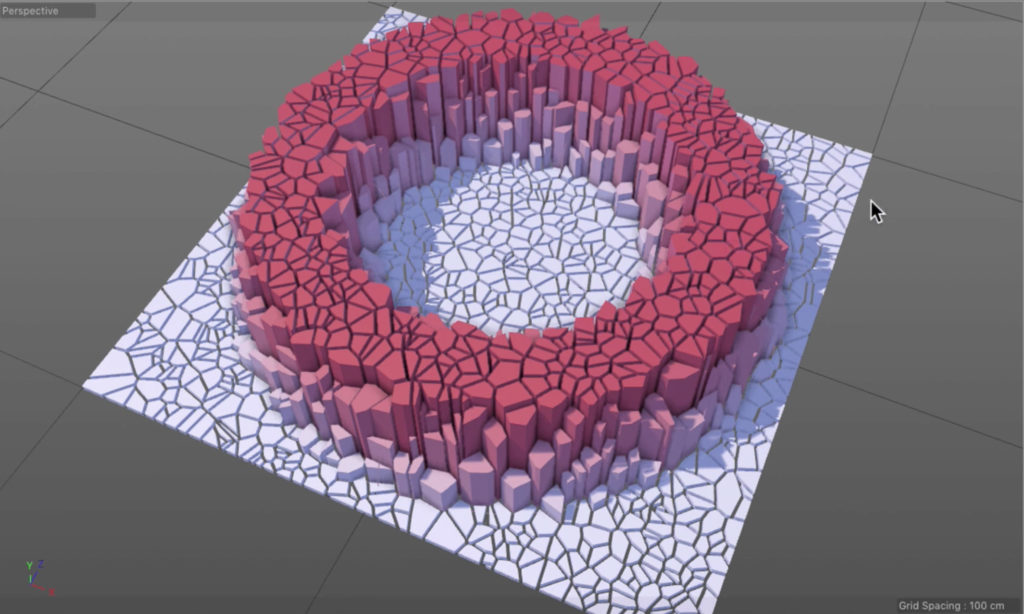 How to create sliced falloffs in C4D