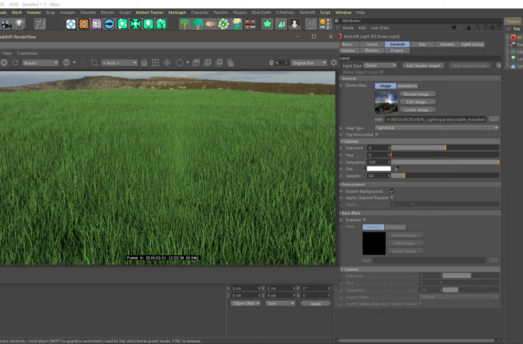 Scattering with redshift by using a matrix object | 3DArt