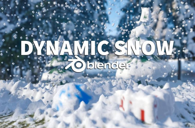 Dynamic Snow in Blender 2.8 Tutorial