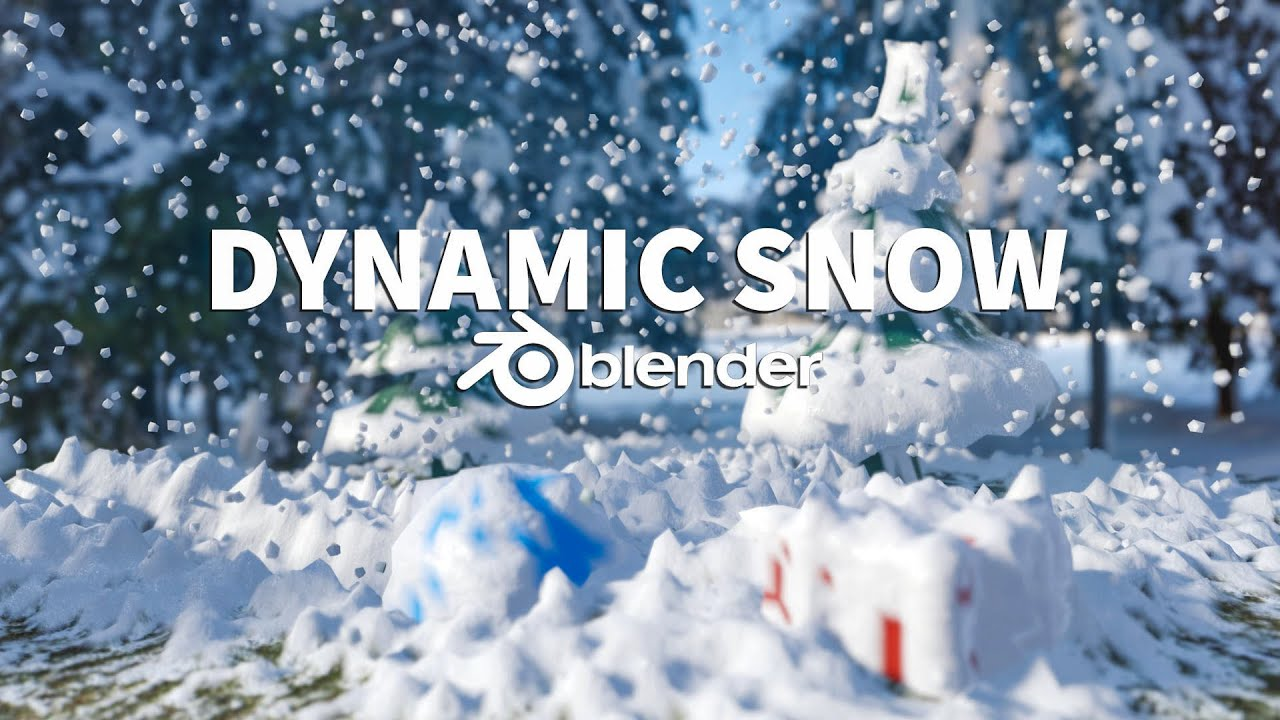 Dynamic Snow in Blender 2.8 Tutorial